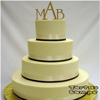 Torta Matrimonio 06 - Cod:WMA06