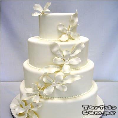Torta para matrimonio | Tortas matrimonio | Tortas de Bodas | Torta para Bodas - Cod:WMA07