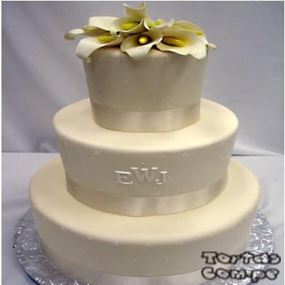 Tortas de matrimonio Civil | Tortas Matrimonio la molina | Tortas Matrimonio  - Cod:WMA08