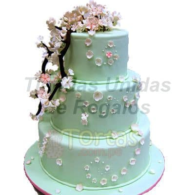 Torta de Matrimonio 18 | Tortas matrimonio | Tortas de Bodas | Torta para Bodas - Cod:WMA18