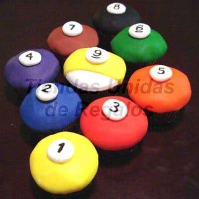 Cupcakes de Billar | Cupcakes Personalizados - Cod:WMF10