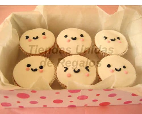 Desayunosperu.com - Muffin Art�stico 16 - Codigo:WMF16 - Detalles: 6 muffin,decorados con masa elastica y figuras de caritas. - - Para mayores informes llamenos al Telf: 225-5120 o 476-0753.