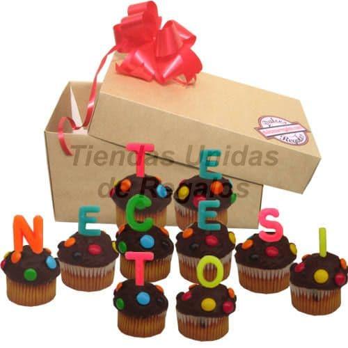 Arreglo de Cumpleaños Para Oficina | Cupcakes Te Necesito - Cod:MCM26