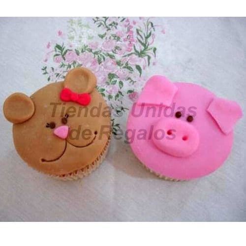 Cupcakes  Chanchitos - Cod:WMF34