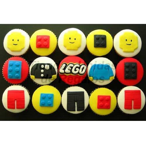 Cupcakes de Lego | Cupcakes Personalizados Para Regalos - Cod:WMF37