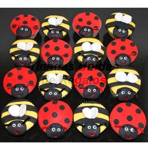 Cupcakes Lady Bug | Cupcakes Personalizados Para Regalos - Cod:WMF41