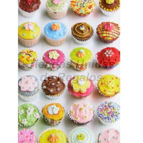 Cupcakes de Flores - Cod:WMF47