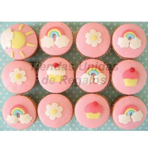 Cupcakes Arco Iris | Cupcakes Personalizados Para Regalos - Cod:WMF50