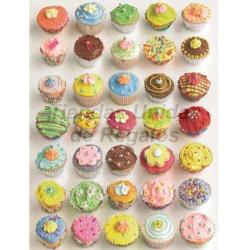 35 Cupcakes  Artísticos | Cupcakes Personalizados Para Regalos - Cod:WMF54