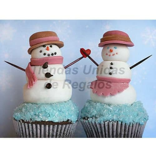 Cupcakes Oso de Nieve | Cupcakes Personalizados Para Regalos - Whatsapp: 980-660044