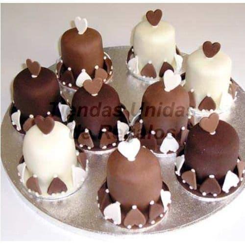 Tortas Individuales de corazones | Torta Individuales | Tortas Personales - Cod:WMT05