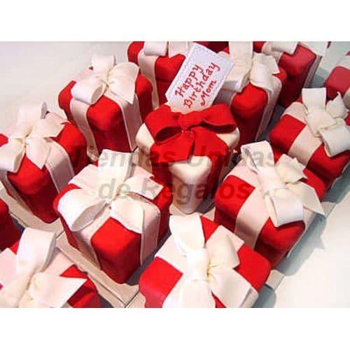 Tortas Individuales de regalitos rojo - Whatsapp: 980-660044