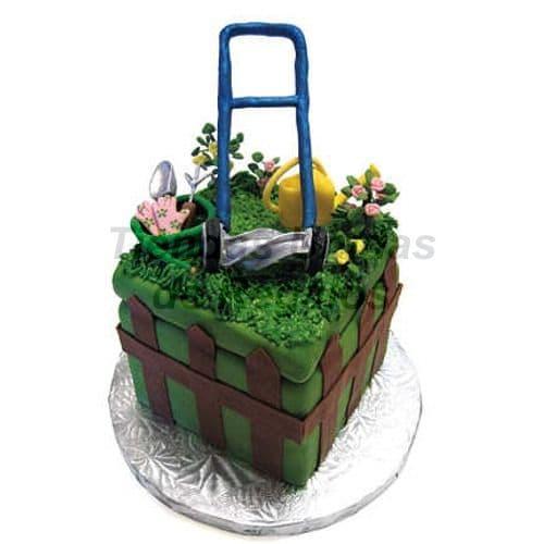 Torta Cesped-Jardineria | Torta Individuales | Tortas Personales - Cod:WMT09