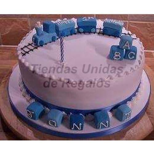 Diloconrosas.com - Torta Bebe 03 - Codigo:WNA03 - Detalles: Torta a base de keke De Vainilla con medida de 25 cm. Todo el decorado esta hecho a base de masa el�stica. No incluye Nombre en azucar. Incluye Modelado de Tren en la parte superior  3 cubos de azucar en la parte superior y 5 cubos con hasta 1 letra en cada uno. Incluye masa elastica en la base - - Para mayores informes llamenos al Telf: 225-5120 o 476-0753.