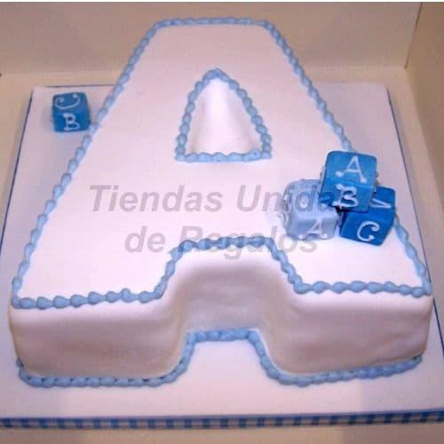 Diloconrosas.com - Torta en Forma de Letra 10 - Codigo:WNA10 - Detalles: Torta a base de keke De Vainilla con la letra A de medida de 20 x 30cm. Todo el decorado esta hecho a base de masa el�stica. Incluye cubos de azucar. - - Para mayores informes llamenos al Telf: 225-5120 o 476-0753.