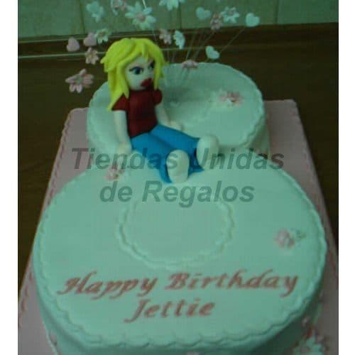 Tortas en Numeros | Tortas de Numeros con Flores | Tortas de Numeros 15 - Whatsapp: 980-660044