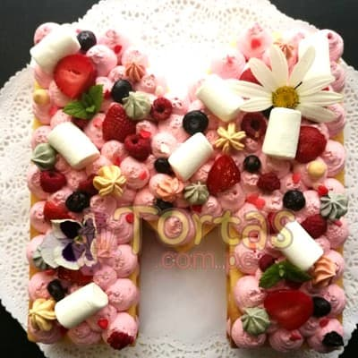 Tortas Numero | Torta de letras con Flores | Tortas con Flores - Whatsapp: 980-660044