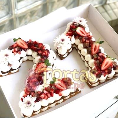 Tarta Letras y Numeros 10 - Codigo:WNU10 - Detalles: Deliciosos kekes de vainilla relleno con capas de buttercream incluye tres capas de keke y dos de buttercream. Incluye decoracion segun imagen. Letra Personalizable. Tama�o 20x15cm.  cada uno - - Para mayores informes llamenos al Telf: 225-5120 o 980-660044.