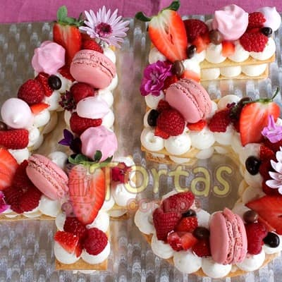 Torta Flores y Numeros 11 - Whatsapp: 980-660044