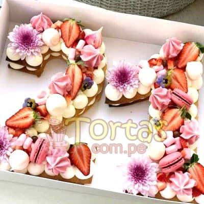 Torta fllres y numeros 14 - Codigo:WNU14 - Detalles: Deliciosos kekes de vainilla relleno con capas de buttercream incluye tres capas de keke y dos de buttercream. Incluye decoracion segun imagen. Letra Personalizable. Tama�o 20x10cm.  cada uno - - Para mayores informes llamenos al Telf: 225-5120 o 980-660044.