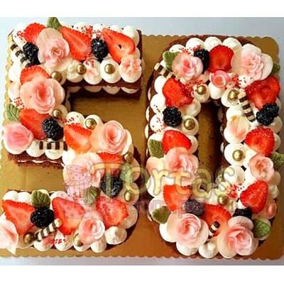 Torta con Numero | Torta Letras y Numeros 17 - Whatsapp: 980-660044