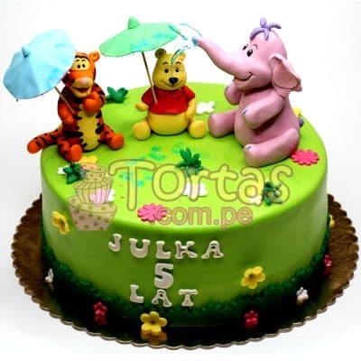 Torta Winnie Pooh y amigos | Tortas Infantiles para niños | Torta Winnie pooh - Whatsapp: 980-660044