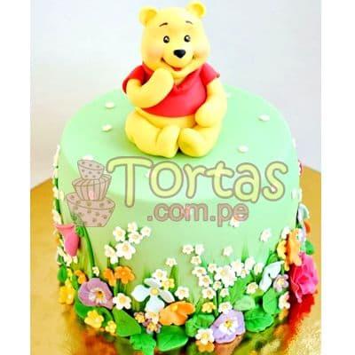 Torta Winnie Pooh | Tortas Infantiles para niños | Torta Winnie pooh - Whatsapp: 980-660044