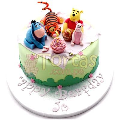 Torta Osito Winnie Pooh | Tortas Infantiles para niños | Torta Winnie pooh - Whatsapp: 980-660044