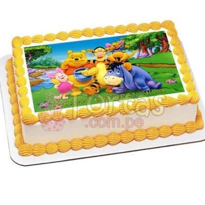 FotoTorta Winnie Pooh   Tortas Infantiles para niños   Torta Winnie pooh - Whatsapp: 980-660044