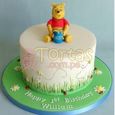 Torta Winnie Pooh Baby | Tortas Infantiles para niños | Torta Winnie pooh - Whatsapp: 980-660044