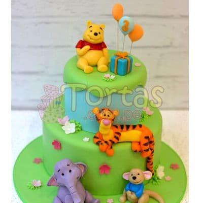 Torta Winnie Pooh infantil - Cod:WPO09