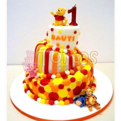 Torta Torta Pooh 3 pisos   Tortas Infantiles para niños   Torta Winnie pooh - Whatsapp: 980-660044
