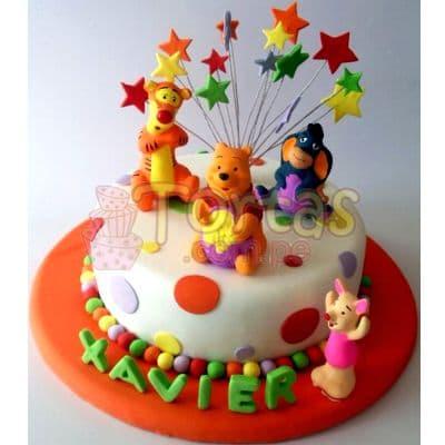 Torta Pooh con estrellas | Tortas Infantiles para niños | Torta Winnie pooh - Whatsapp: 980-660044