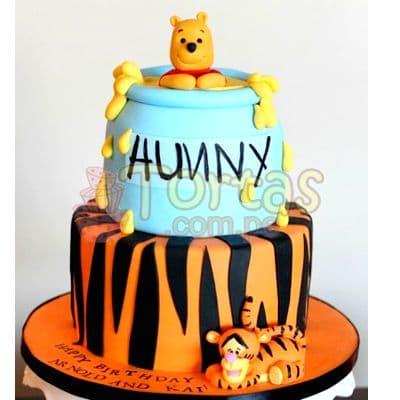 Torta Winnie Pooh jarro de miel | Tortas Infantiles para niños | Torta Winnie pooh - Whatsapp: 980-660044