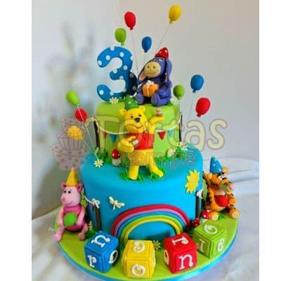 Torta Winnie Pooh 2 pisos | Tortas Infantiles para niños | Torta Winnie pooh - Whatsapp: 980-660044