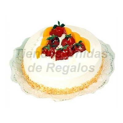 i-quiero.com - Torta de Vainilla y Chantilly  - Codigo:WPS05 - Detalles: Torta de Chantilly , adornado con tajadas de durasno.        - - Para mayores informes llamenos al Telf: 225-5120 o 476-0753.