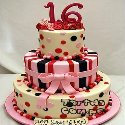 Torta Dulce Quincea�a - Cod:WQC13