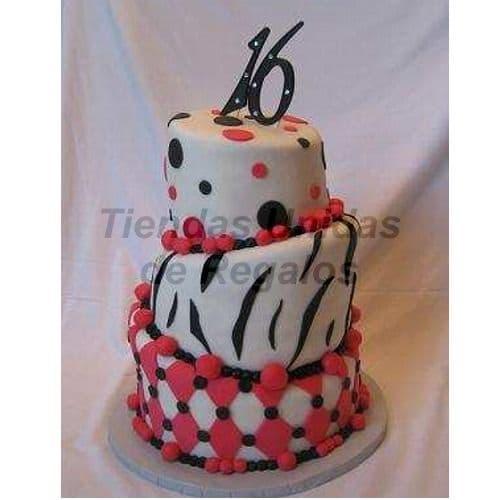 Torta Quinceañero con numeros | Torta de 15 | Tortas de quinceañeras - Cod:WQC19