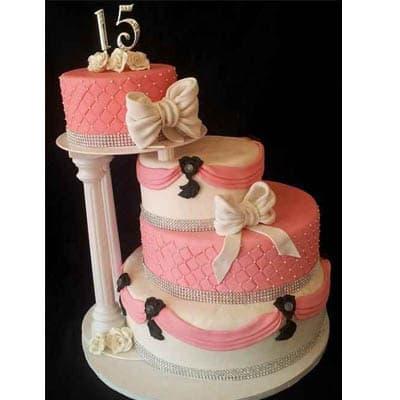 Torta quincea�era 25 - Cod:WQC25