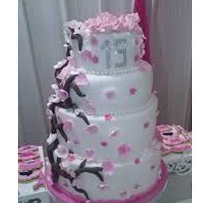 Torta quinceañera 27 | Torta de 15 | Tortas de quinceañeras - Whatsapp: 980-660044