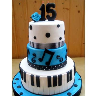 Torta quinceañera 29 - Cod:WQC29