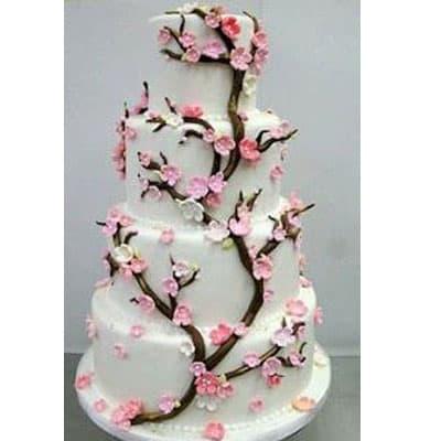 Torta quincea�era 30 - Codigo:WQC30 - Detalles: Deliciosa torta de keke De Vainilla   , ba�ada con manjar blanco y forrada con masa elastica con las siguientes medidas: 1er piso de 35cm de di�metro, 2do piso de 25cm de di�metro, 3er piso de 20cm de di�metro, 4to piso de 15cm de di�metro, flores y ramas modeladas con masa el�stica - - Para mayores informes llamenos al Telf: 225-5120 o 4760-753.