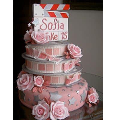 Torta quinceañera 31 - Cod:WQC31