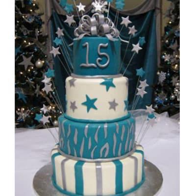 Torta quincea�era 32- Whatsapp: 980-660044