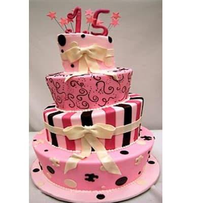 Torta quinceañera 42 - Cod:WQC42