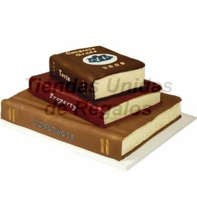 Torta Libros 02 - Cod:TRR18