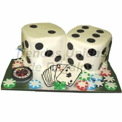 Torta Dados | Pastel dados y cartas | Torta de cupcakes | Tortas de casino - Cod:TRR15