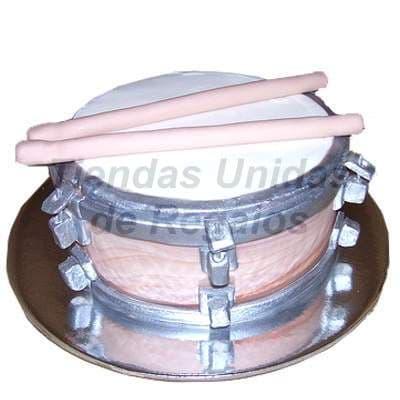 Torta Tambor | Pastel tambor | Tartas musicales | Torta de tambor - Cod:TRR11