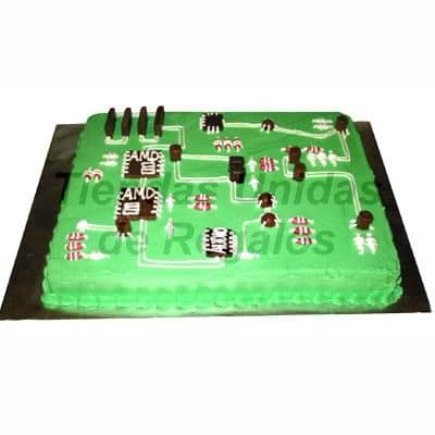 Torta Circuito Electrónico | Torta Ingeniero eléctrico | Pastel ingeniero - Cod:TRR17