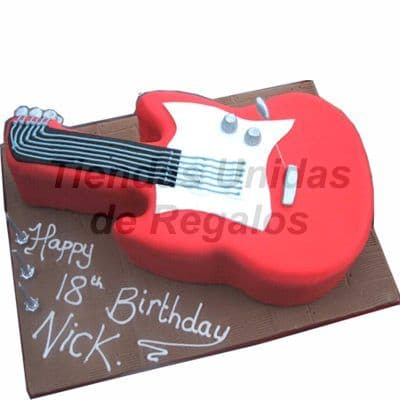 Torta Guitarra electrica - Whatsapp: 980-660044